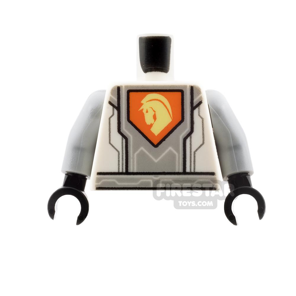 LEGO Mini Figure Torso - Silver Circuitry with Horse Head