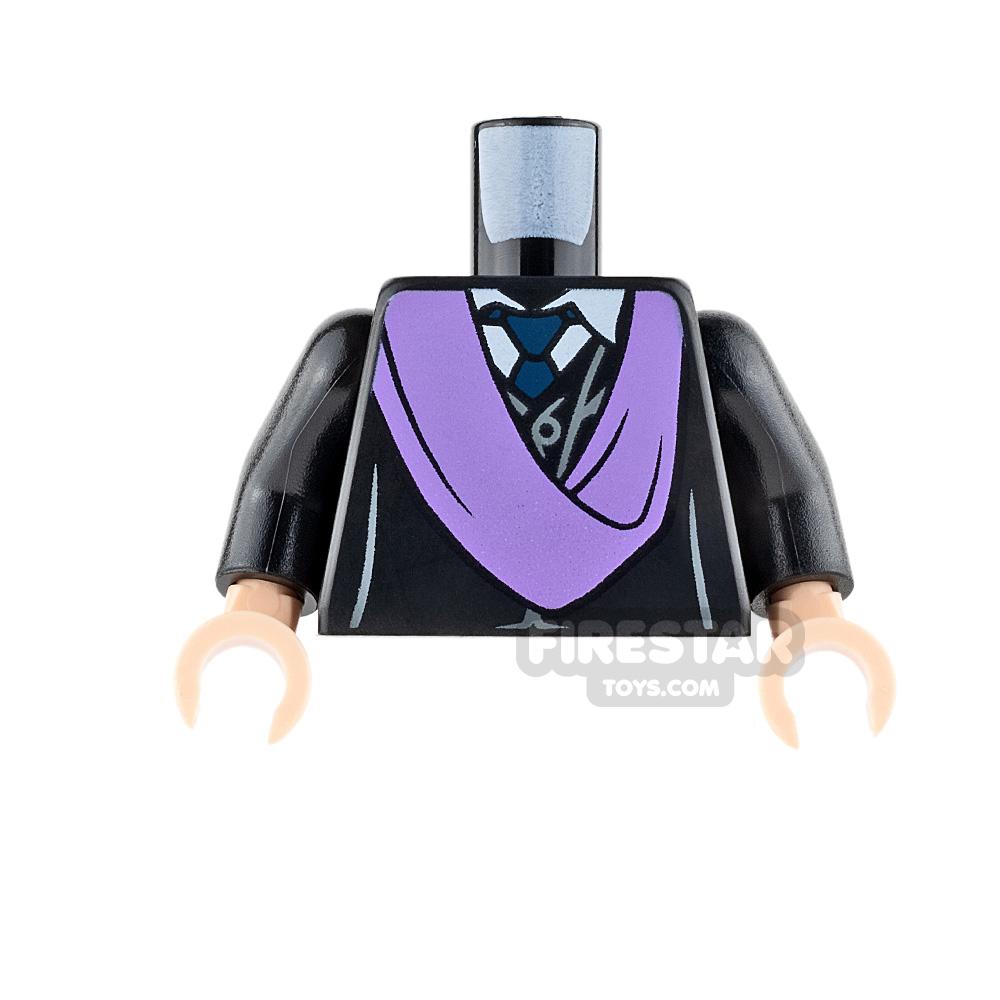 LEGO Mini Figure Torso - Black Robe with Lavender Sash