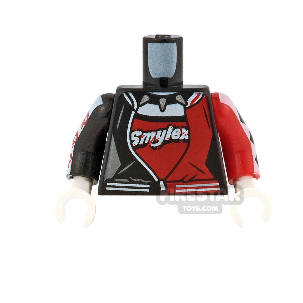 LEGO Mini Figure Torso - Harley Quinn - Bowling Jacket