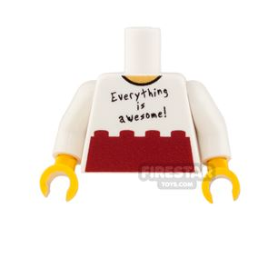 Custom Design Torso - Everything Is Awesome! - Red