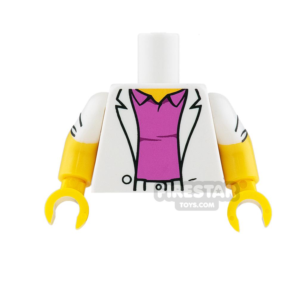 LEGO Mini Figure Torso - Sports Jacket and Pink Polo Shirt