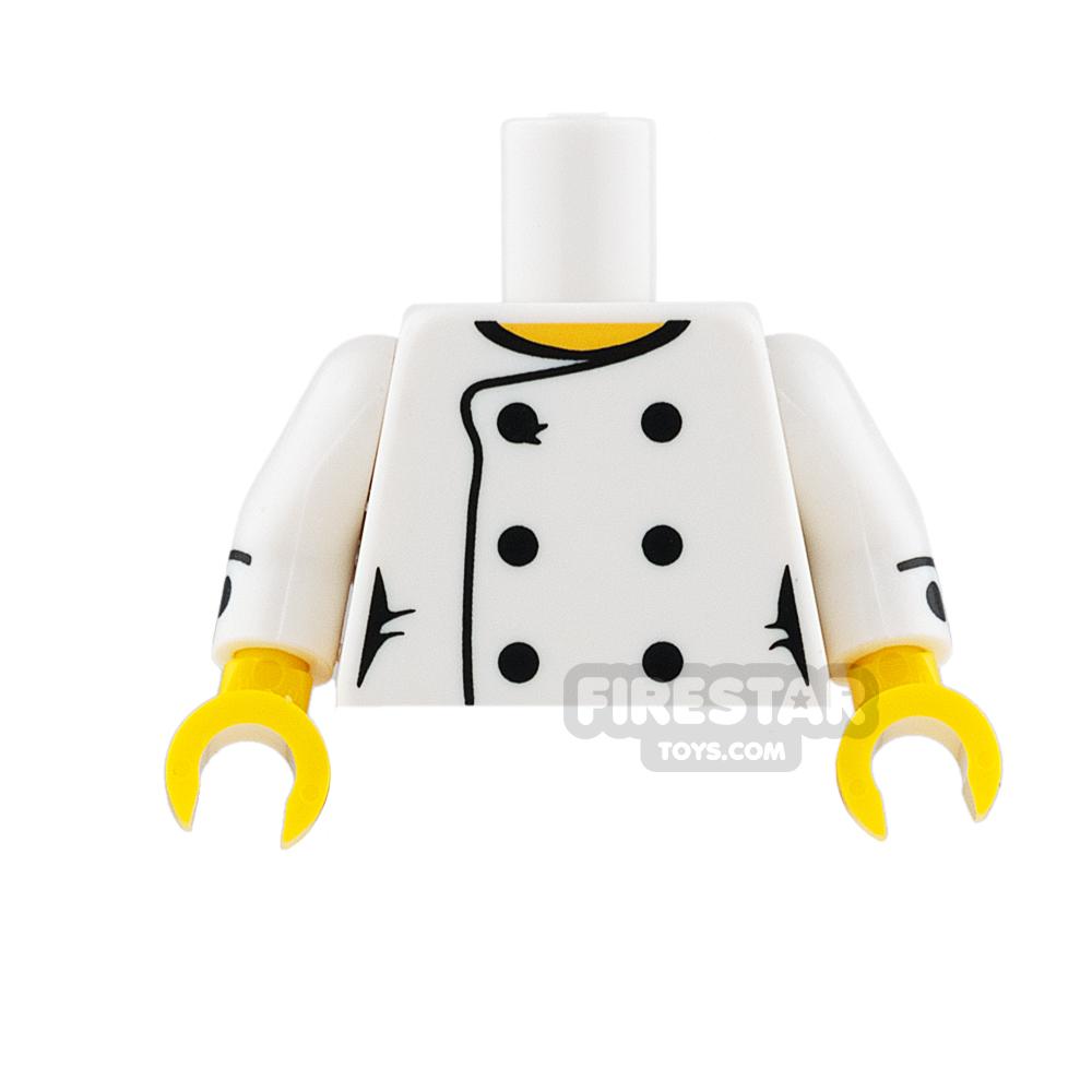 LEGO Mini Figure Torso - Female Chef with Black Buttons