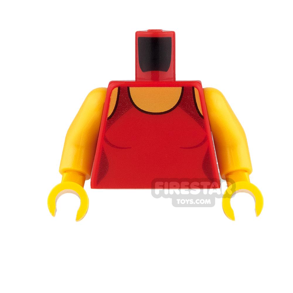 LEGO Mini Figure Torso - Lifeguard Swimsuit