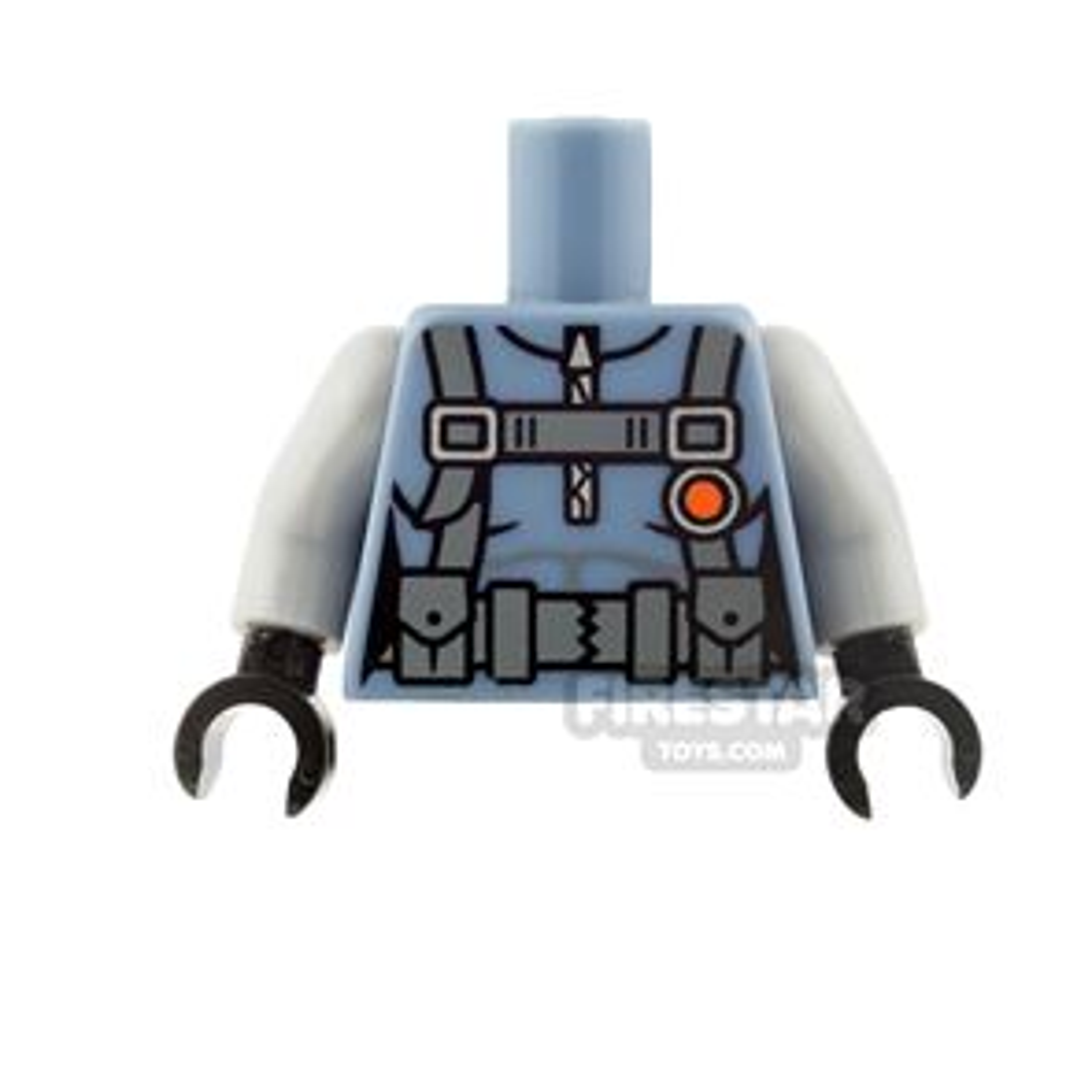 LEGO Mini Figure Torso - Scuba Suit with Straps and Belt