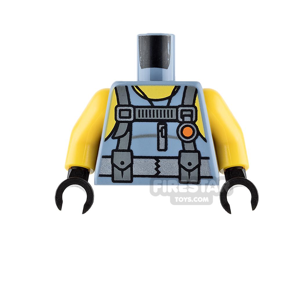 LEGO Mini Figure Torso - Scuba Suit with Yellow Arms