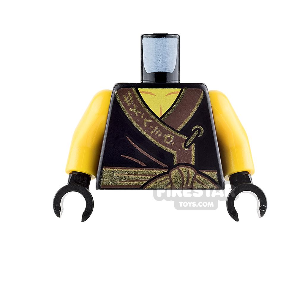 LEGO Mini Figure Torso - Black Ninja Robe with Gold Sash and Medallion