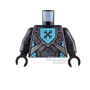 LEGO Mini Figure Torso - Silver Panels with Crossed Spanner Wrench
