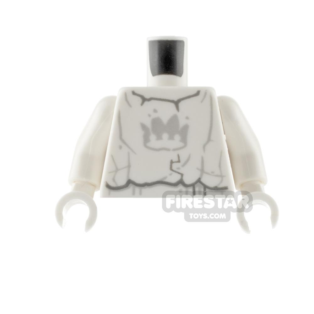 LEGO Mini Figure Torso - Stone Statue with Gray Crown