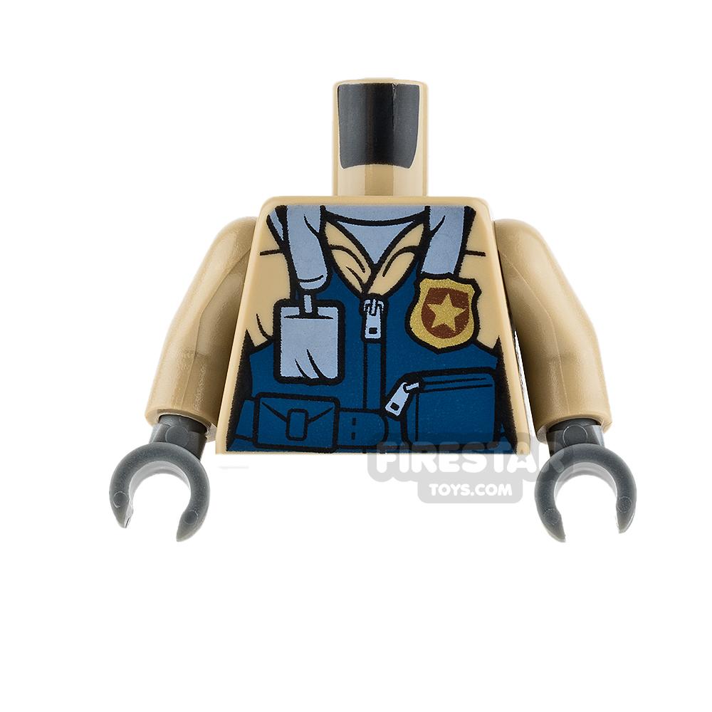 LEGO Mini Figure Torso - Mountain Police - Dark Tan