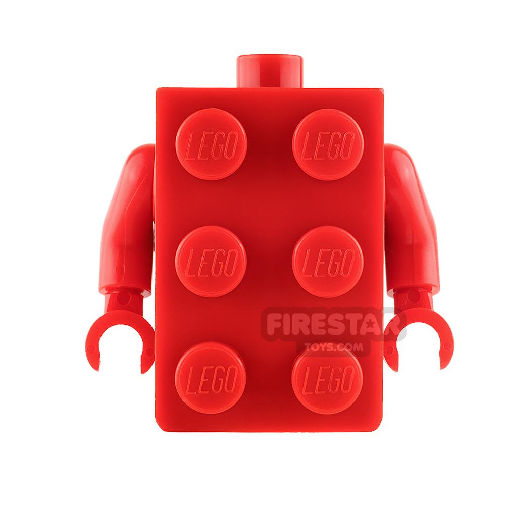 LEGO Mini Figure Torso - LEGO Brick - Red