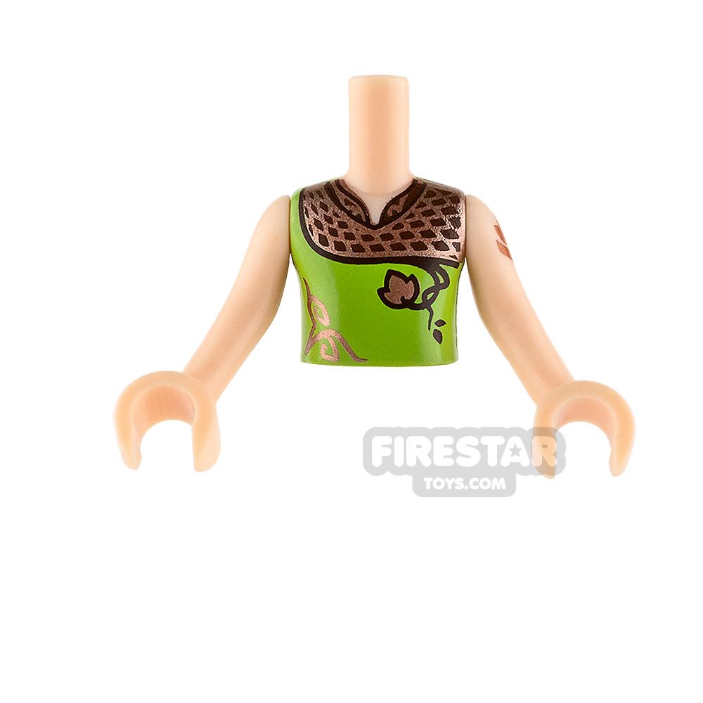 LEGO Elves Minifigure Torso Copper Shoulders