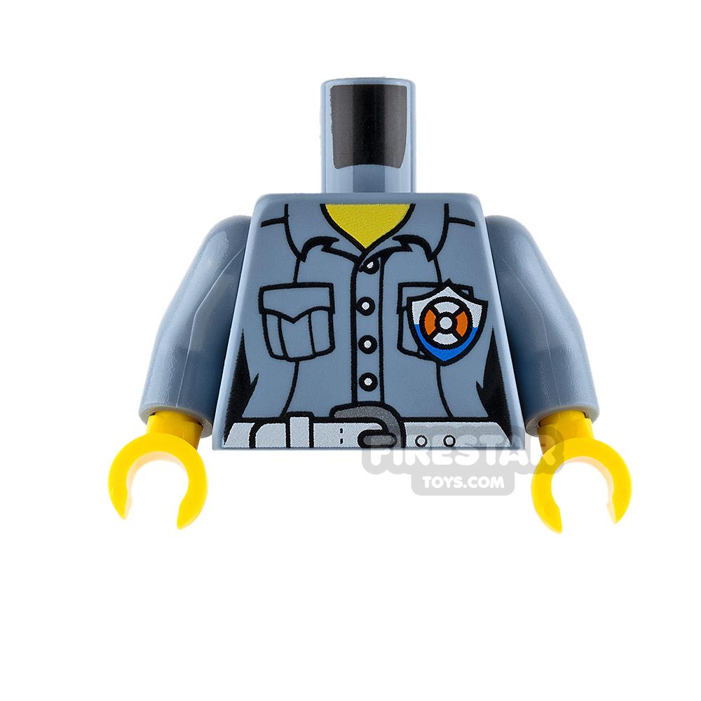 LEGO Mini Figure Torso - Coast Guard Shirt - Sand Blue