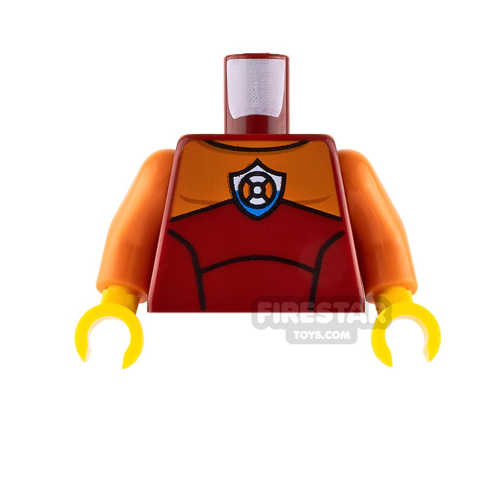 LEGO Mini Figure Torso - Coast Guard Wetsuit - Dark Red