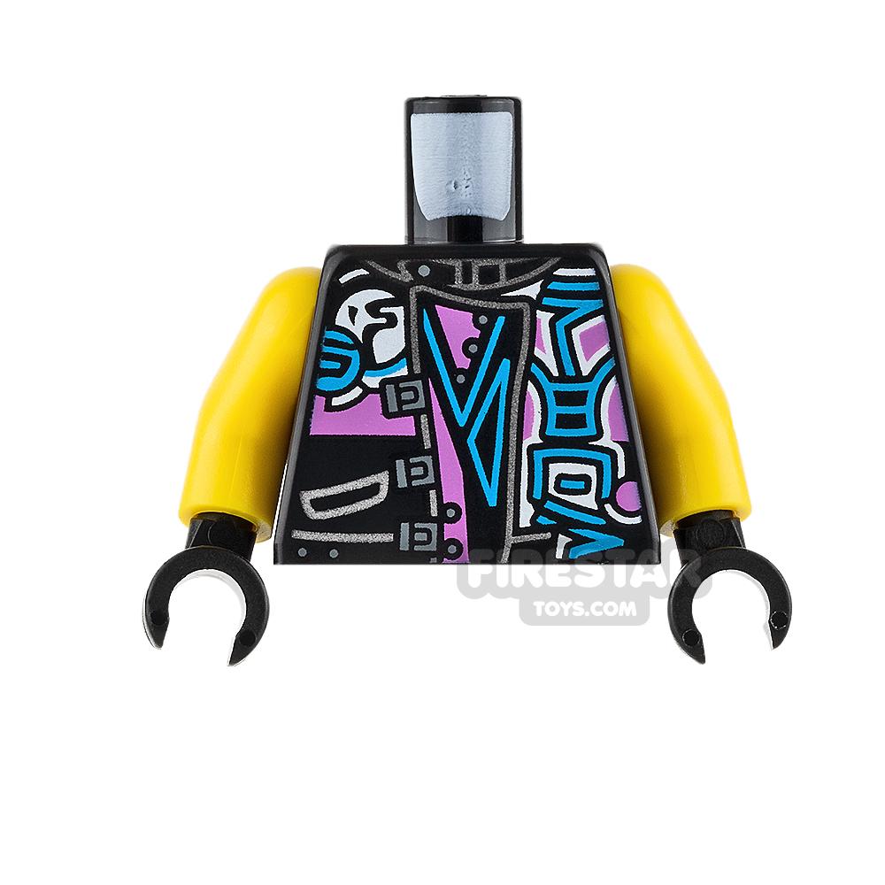LEGO Mini Figure Torso - Biker Vest with Ninjago Characters