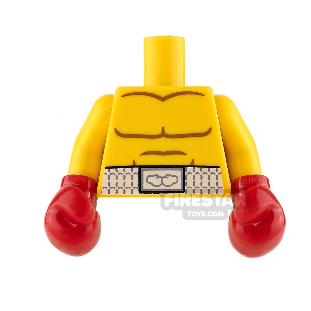 LEGO Mini Figure Torso - Boxing Gloves and Boxers Belt