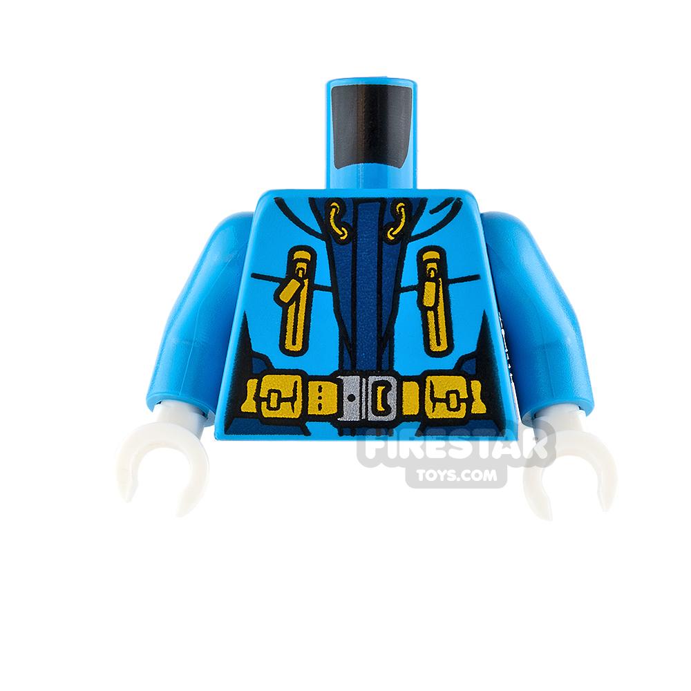 LEGO Mini Figure Torso - Arctic Explorer Jacket - Dark Azure
