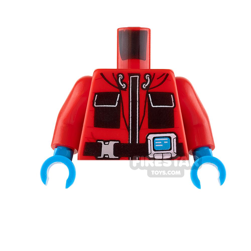 LEGO Mini Figure Torso - Arctic Explorer Jacket - Red