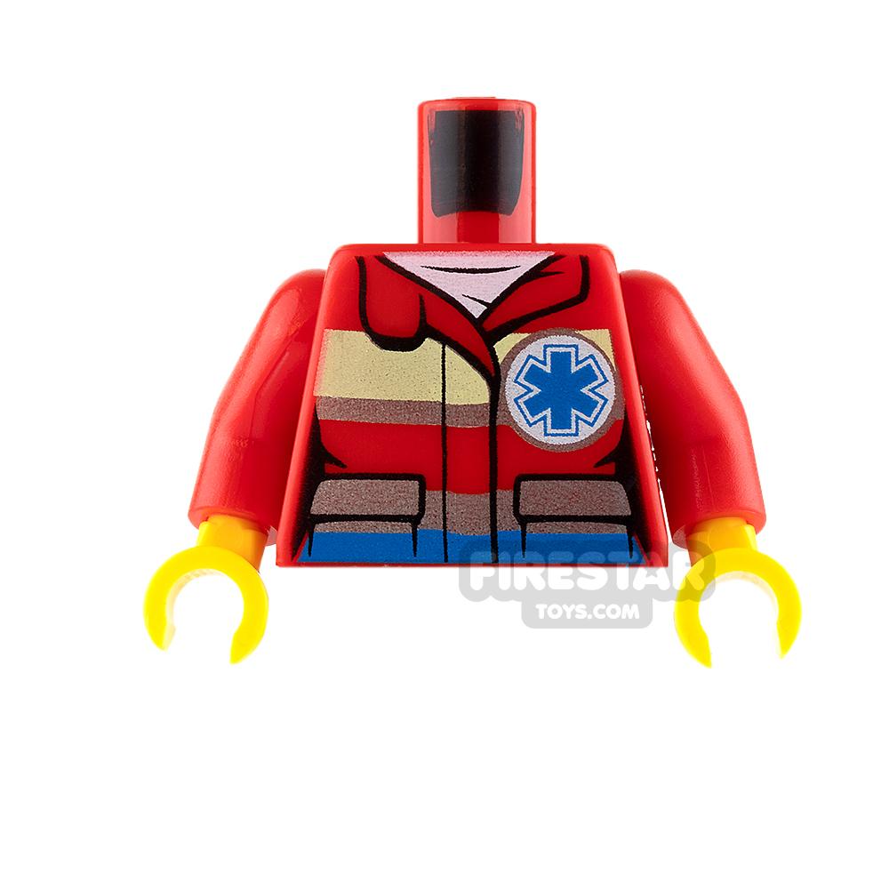 LEGO Mini Figure Torso - Paramedic - Star of Life