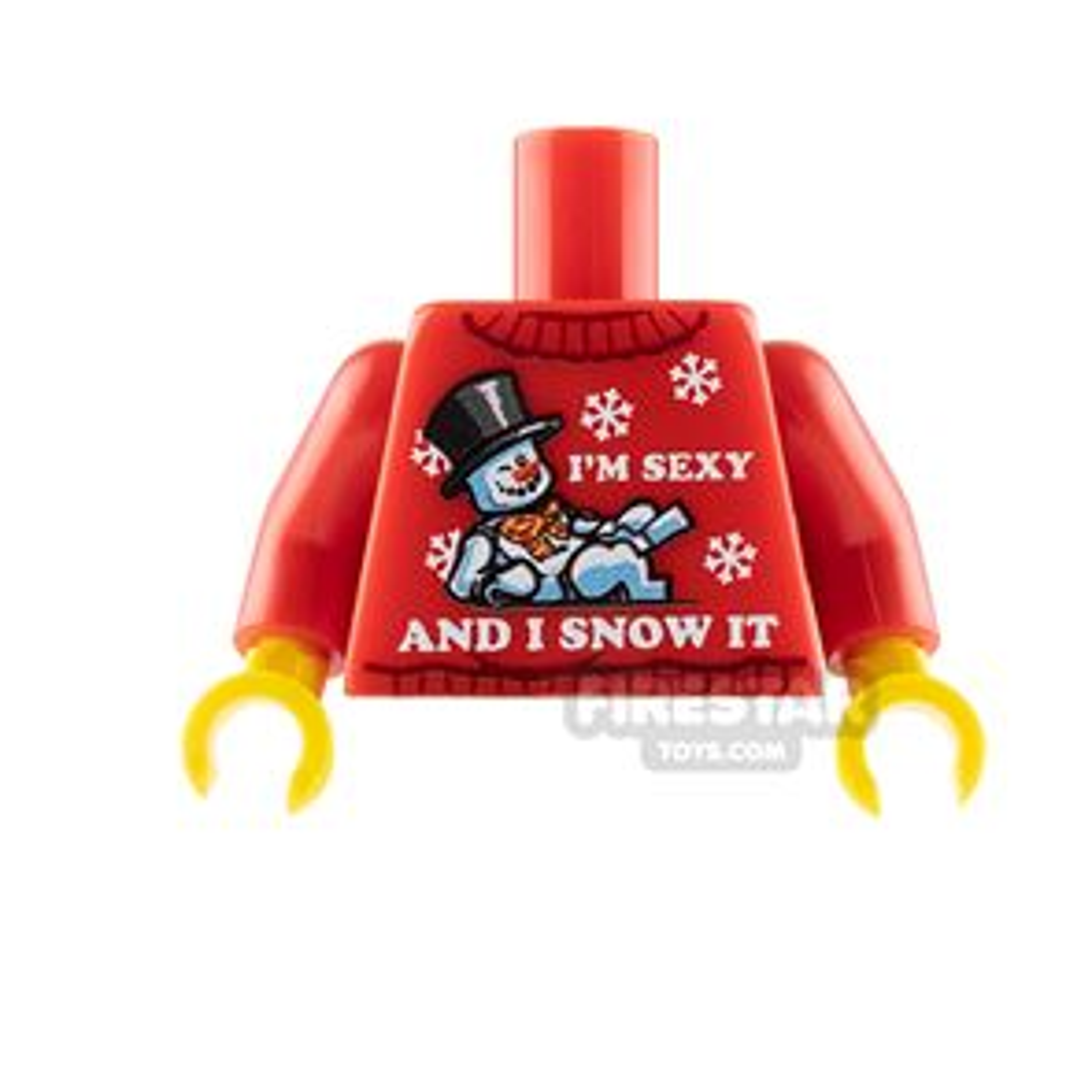 Custom Design Torso - Christmas Jumper - Sexy Snowman
