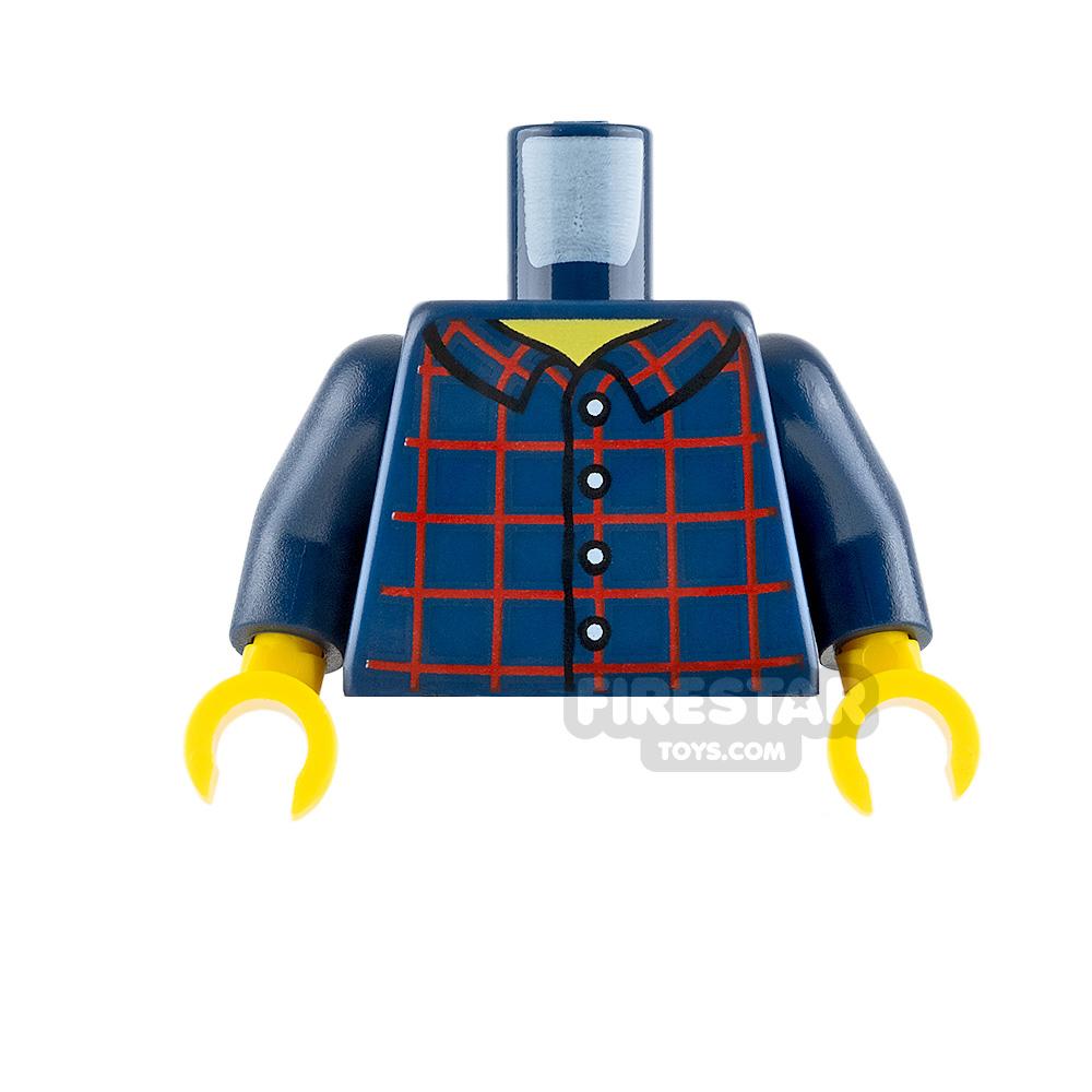 LEGO Minifigure Torso Plaid Shirt