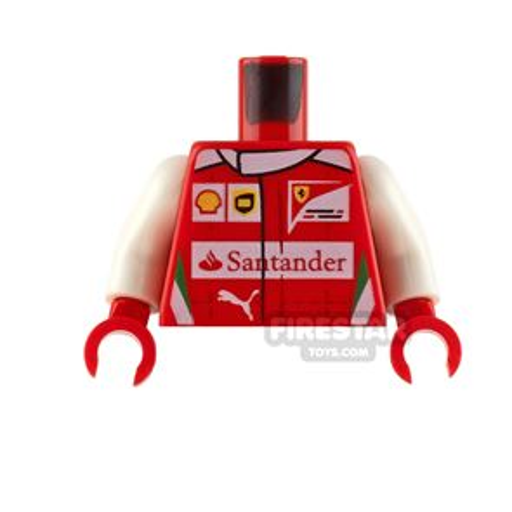 LEGO Minifigure Torso Santander Racing Jacket