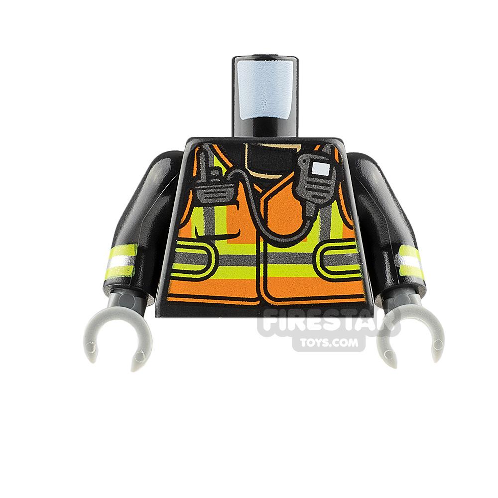 LEGO Minifigure Torso Fire Fighter Suit