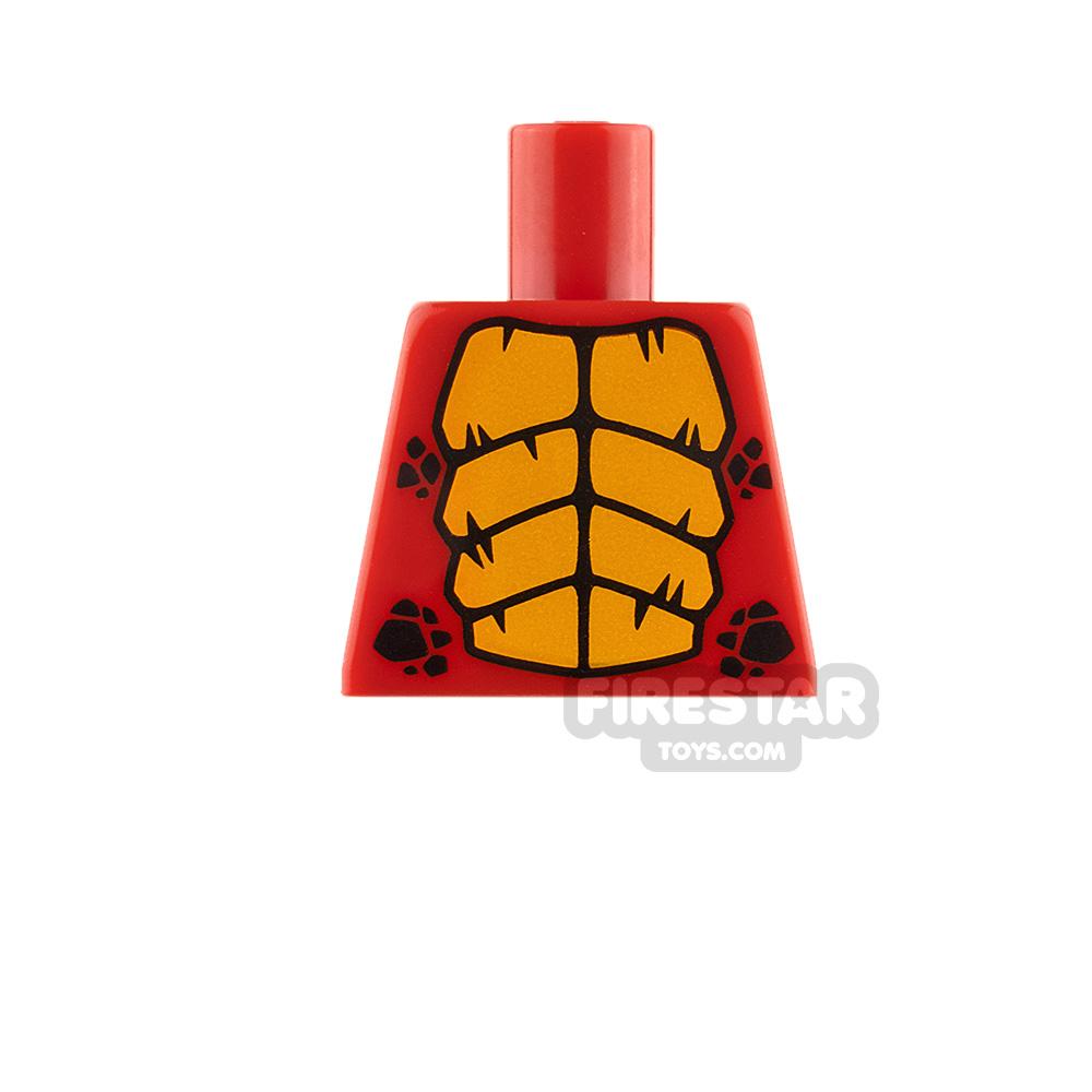LEGO Minifigure No Arm Torso Dragon Red