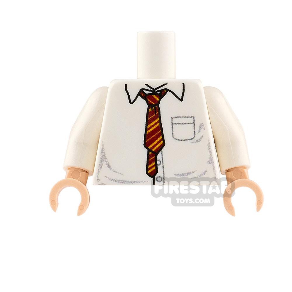 Custom Design Torso Shirt With Red & Gold Tie