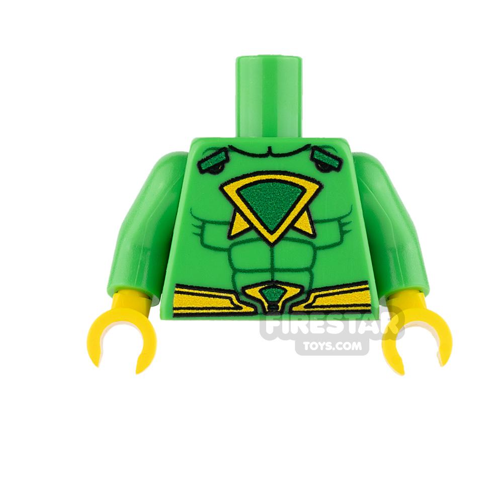 Custom Design Torso - Super Hero - Male - Bright Green