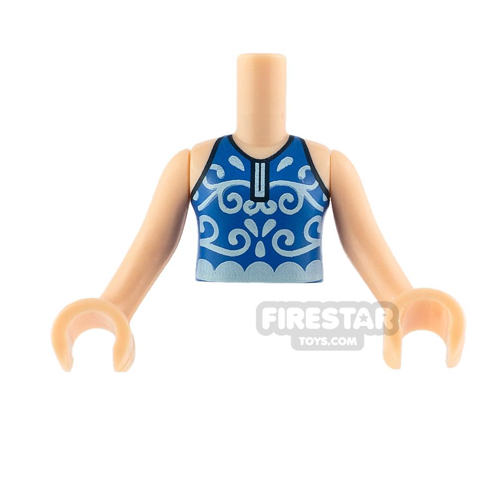 LEGO Friends Minifigure Torso Swimsuit with Splashes