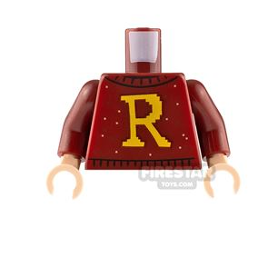 LEGO Minfigure Torso Sweater with Letter R