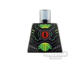 LEGO Minifigure Torso Green Circuitry with Red Eye
