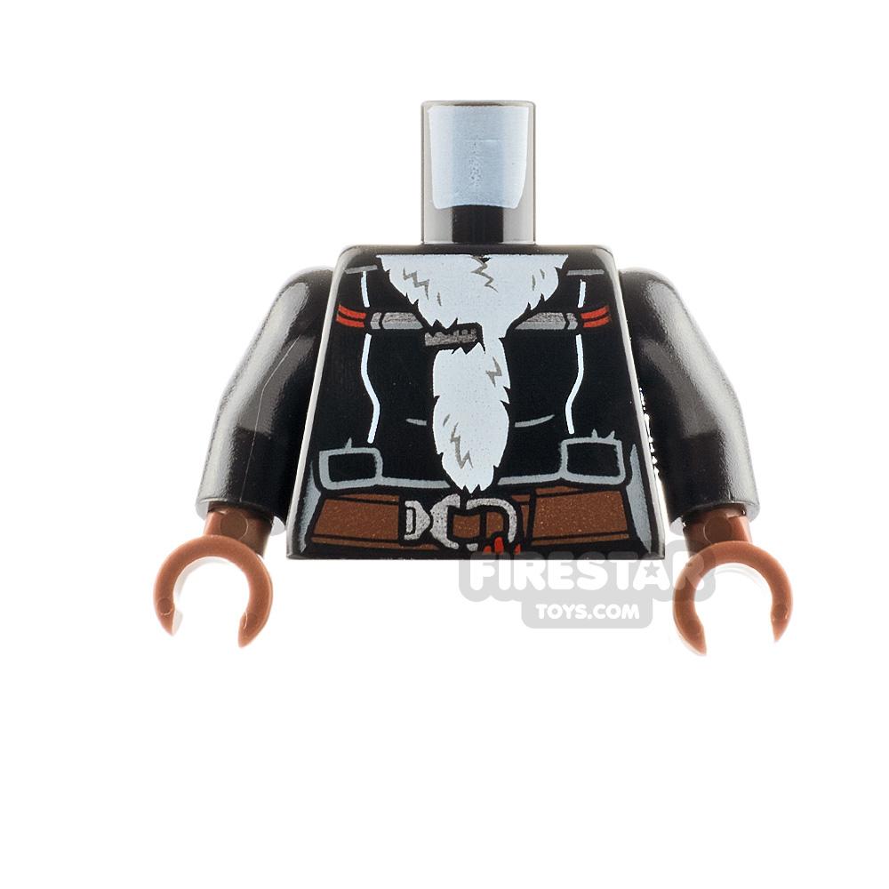 LEGO Minifigure Torso Fur Lined Coat