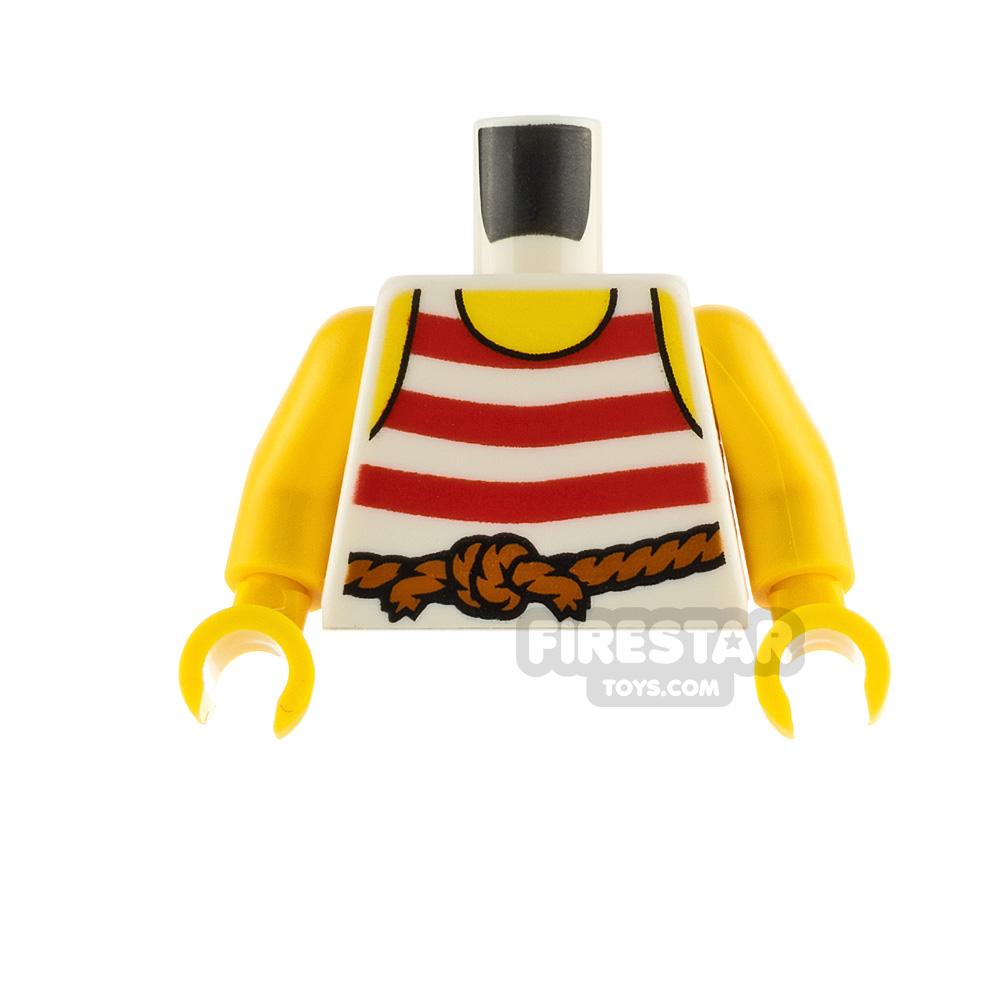 LEGO Minifigure Torso Striped Pirate Vest