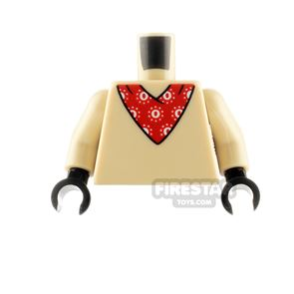 LEGO Minifigure Torso Bandana and Tail on Back