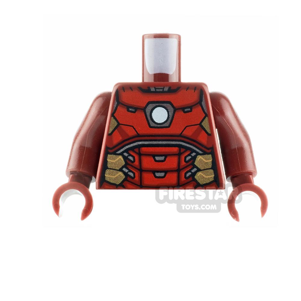 LEGO Minifigure Torso Iron Man Circle Arc Reactor