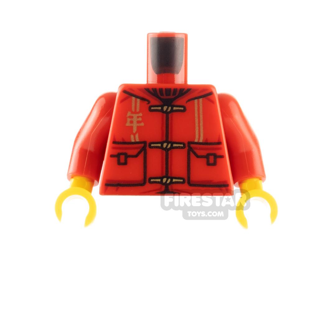 LEGO Minfigure Torso Tang Jacket with Lion Beast