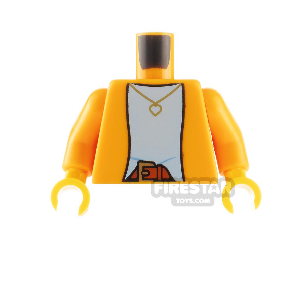 LEGO Minfigure Torso Jacket with Heart Necklace
