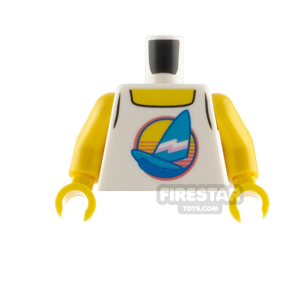 LEGO Minfigure Torso Tank Top with Sailboat
