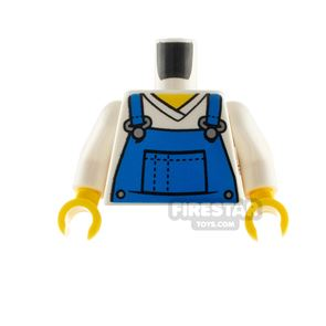 LEGO Minifigure Torso Blue Overalls Dotted Lines