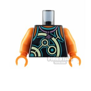 LEGO Minifigure Torso Tank Top with Planet Necklace