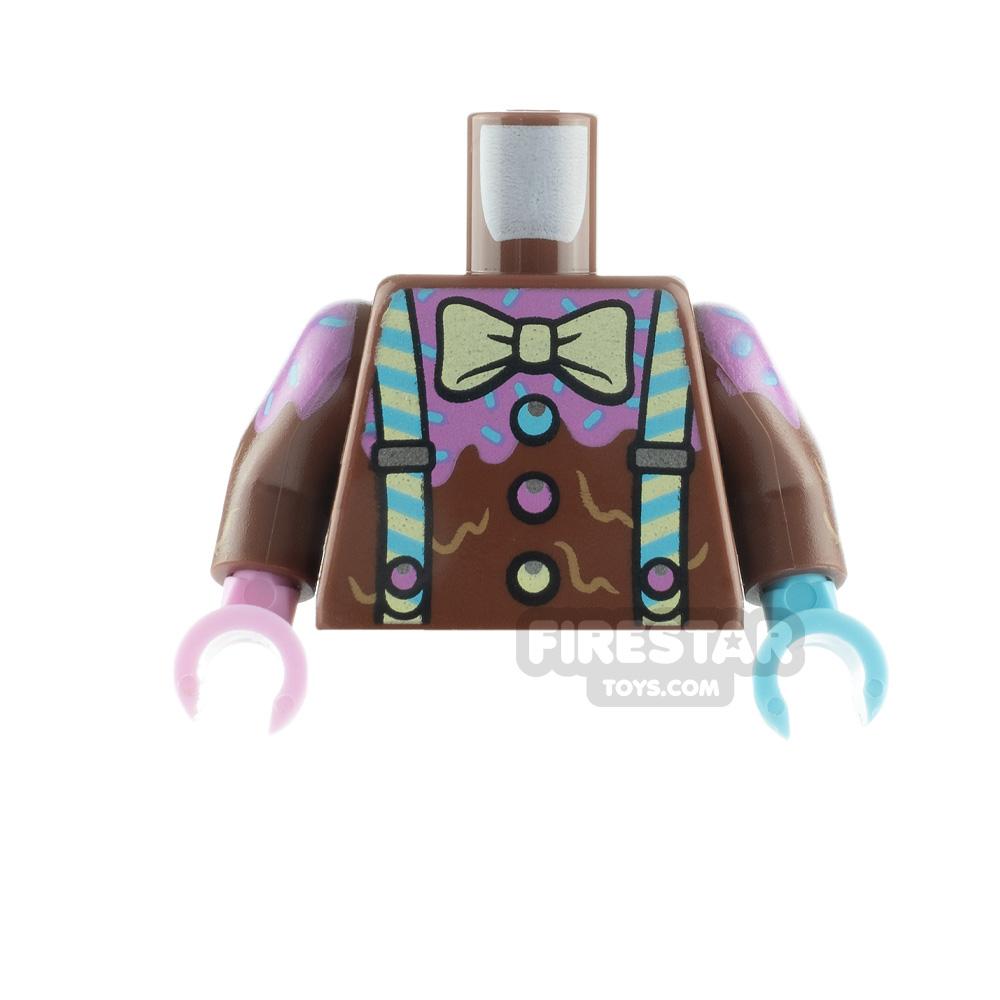 LEGO Minifigure Torso Suspenders Bow Tie and Sprinkles