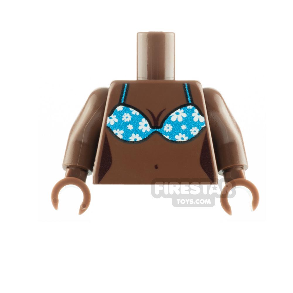 Custom Design Torso Reddish Brown with Flower Bikini