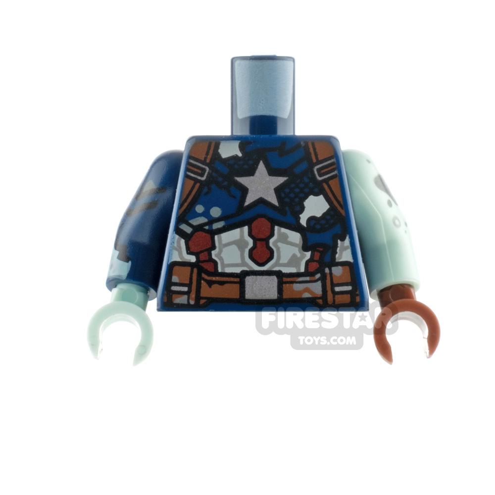 LEGO Minifigure Torso Zombie Captain America