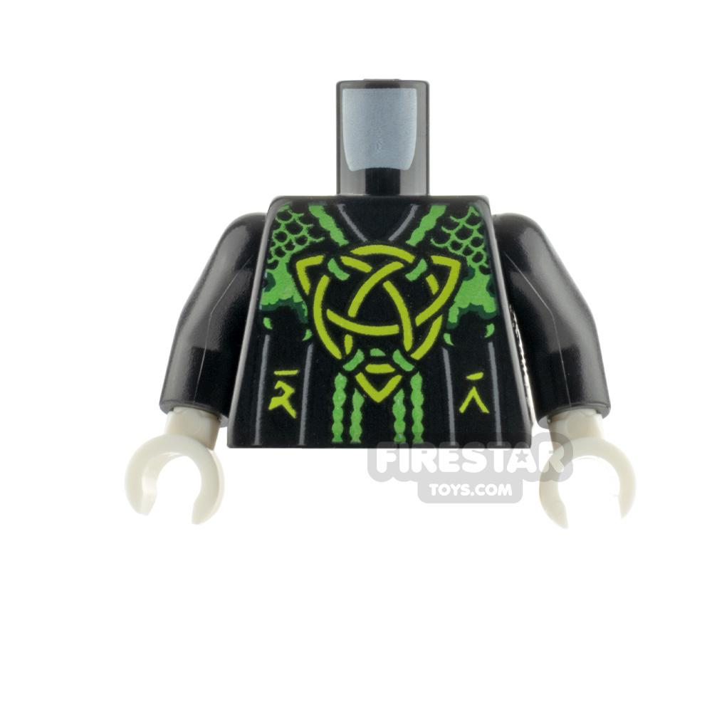 LEGO Minifigure Torso Robe with Celtic Knot