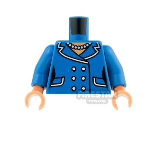 LEGO Mini Figure Torso - Female Suit Jacket with Buttons and Necklace