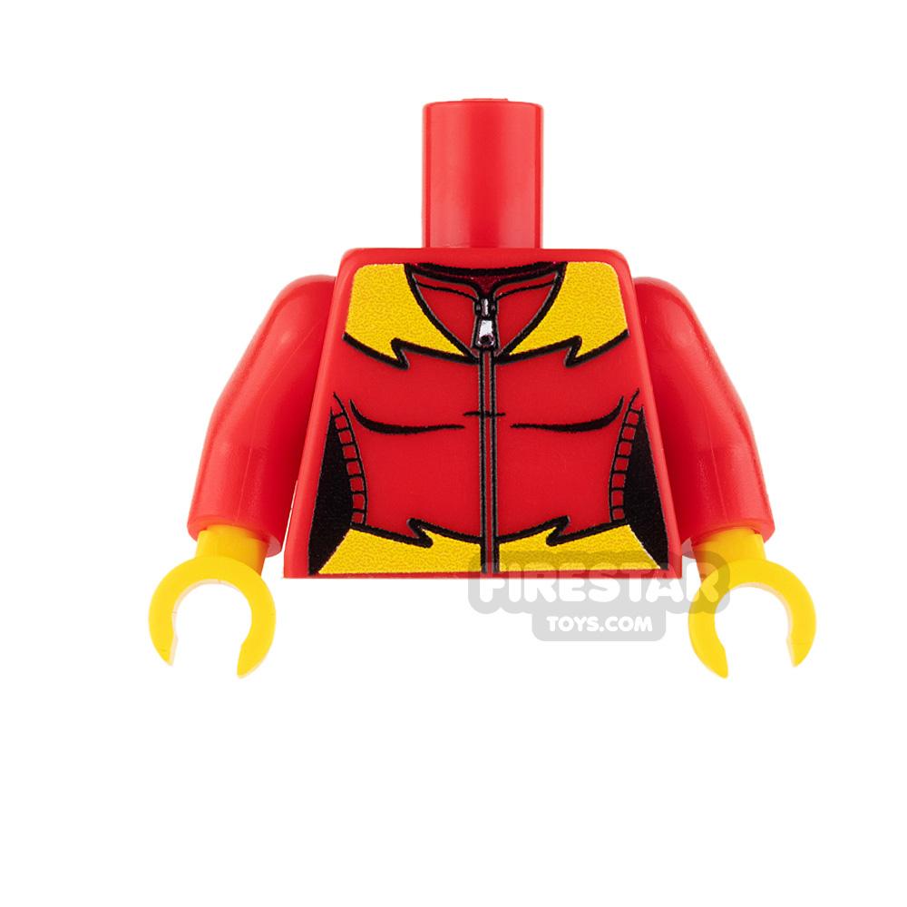 Custom Design Torso - Super Hero - Female - Red with Lightning