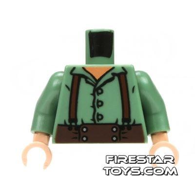 LEGO Mini Figure Torso - Frodo - Green Shirt