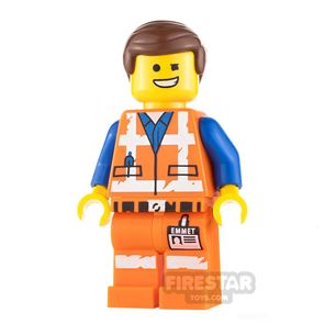 The LEGO Movie 2 Minifigure Emmet Wink Smile and Scared