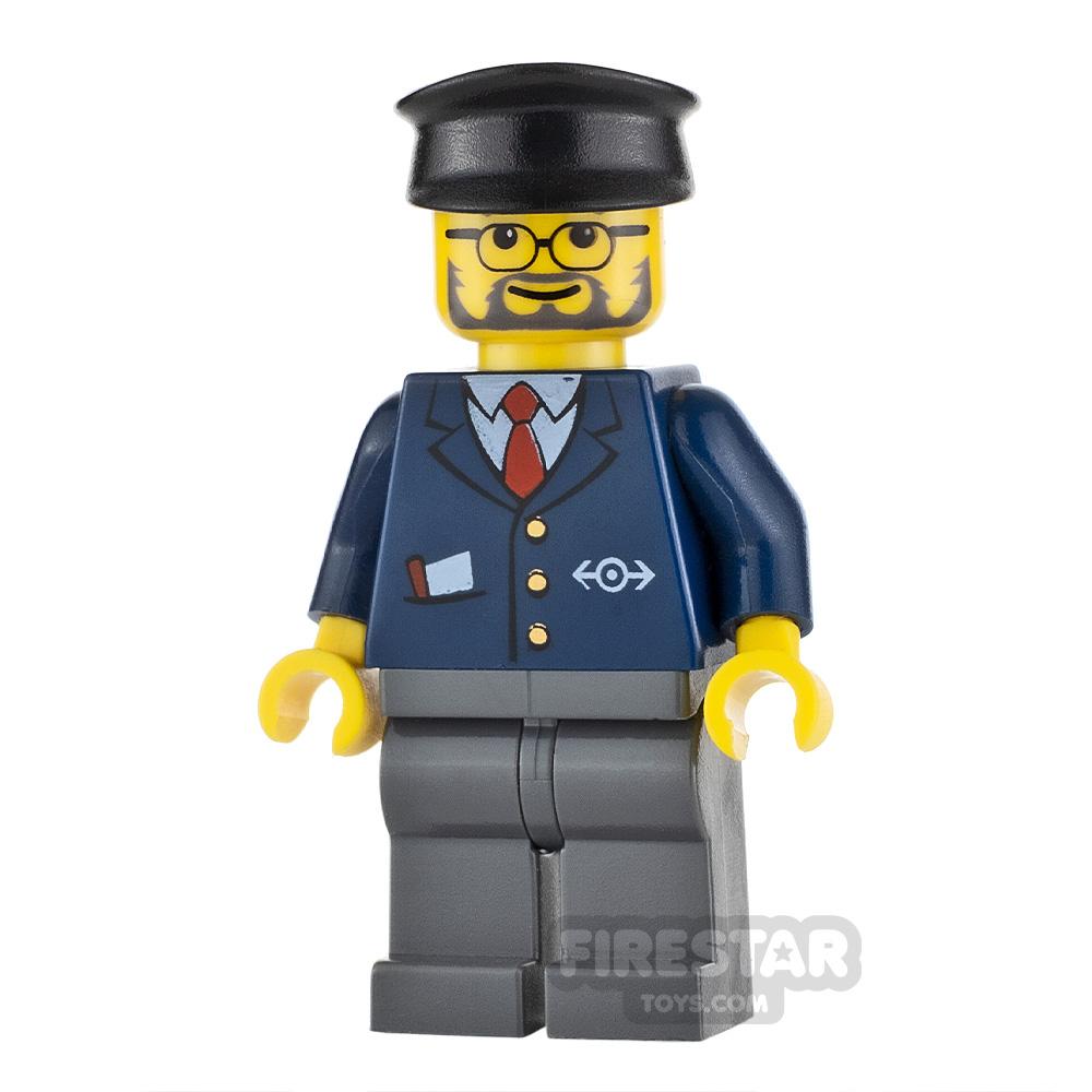 LEGO City Minifigure Dark Blue Suit